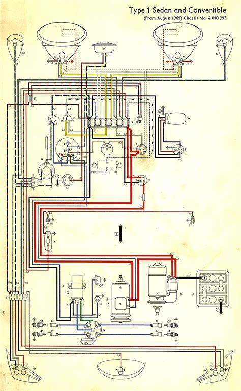 1962 beetle wiring diagram thegoldenbug