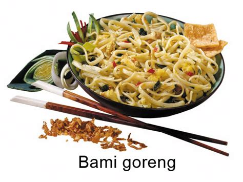 cuisine types substitutions is bami goreng the same as the dish