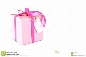Boite Cadeau Vide Gifi : bo te cadeau rose avec l 39 tiquette vide sur le blanc photo ~ Dailycaller-alerts.com Idées de Décoration