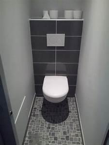 idee deco carrelage salle de bain gris buscar con google With modele salle de bain gris et blanc