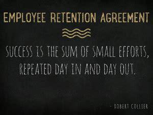 employee retention agreement sale  business attorney