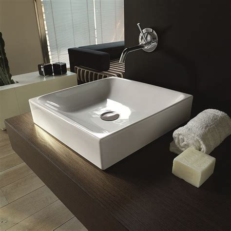 sink on top of counter ws bath collections cento 3544 counter top ceramic sink 17
