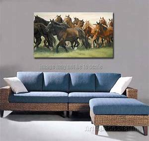 No frame large canvas wall decor modern horse oil pinting