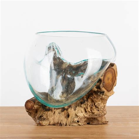 Vase Auf Wurzel by Teakholz Wurzel Mit Glas Vase M 25 35 Cm In 2019 Holz