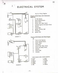Massey Ferguson 35 Gas Wiring Diagram