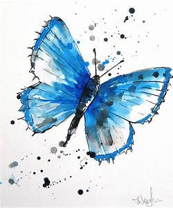 Butterfly blue | A bright lively depiction of a butterfly ...