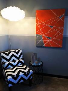 How to make geometric print diy canvas wall art