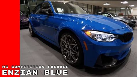 Enzian Blue Individual 2017 Bmw M3 Competition Package