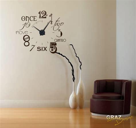 schöne wanduhren wohnzimmer wandtattoo uhr wanduhr zahlen international modern neu uhr schwarz aufkleber schwarz