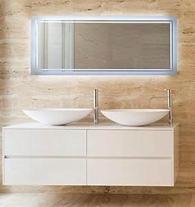 Einfacher Spiegel Ohne Rahmen : krollmann spiegel rahmenlos mit beleuchtung 120 x 50 cm feuchtraumgeeigneter badspiegel led ~ Bigdaddyawards.com Haus und Dekorationen