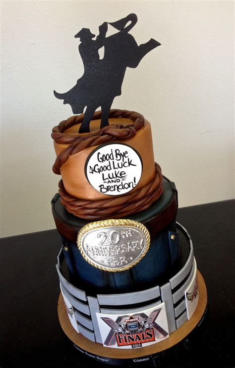 rodeo themed retirement cake wwwgimmesomesugarlvcom
