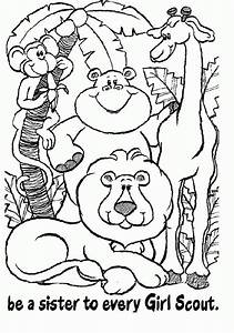 Girl Scout Coloring Pages Bestofcoloringcom