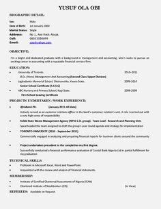 Pin by topresumes on Latest Resume | Pinterest | Sample resume, Resume format and Resume