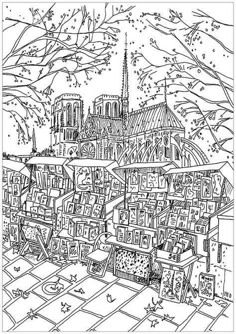 notre dame de paris bookstore paris adult coloring pages