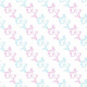 Pink And Blue Storks With Babies Background Seamless ...