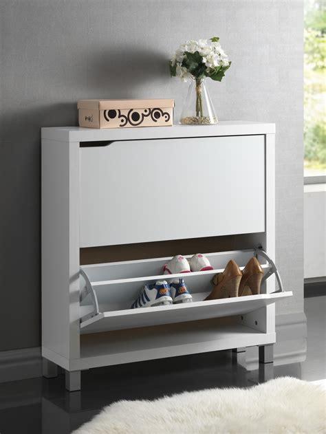 simms white modern shoe cabinet simms white modern shoe cabinet fp 2ous white ebay