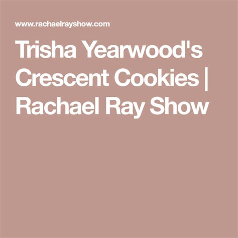 Invest in an inexpensive offset spatula for frosting cakes and cookies. Trisha Yearwood's Crescent Cookies | Crescent cookies ...