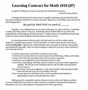 Examples Of Memorandum 15 Learning Contract Templates To Download For Free