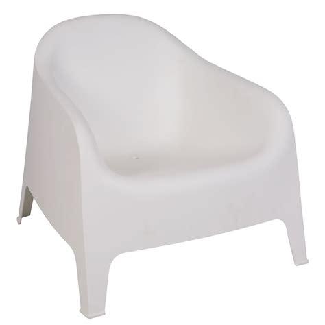 canapé 4 places ikea fauteuil jardin lounge plastique blanc empilable hoob