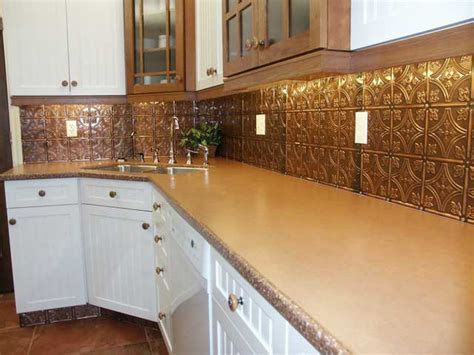 metal tiles for backsplash kitchen tin backsplash tiles for kitchen kitchentoday 9154