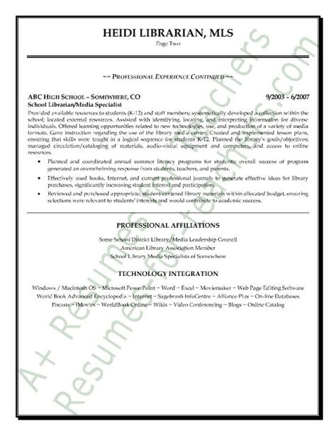 Librarian Resume Sle by 110 Best Promote Your Teaching Skills Images On