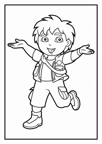 Coloring Diego Pages Dora Cartoon Denis Daily