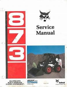 Bobcat 873  Oem Service And Repair Manual With Parts