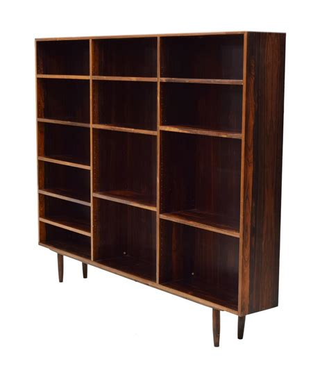 danish mid century modern rosewood bookcase holiday