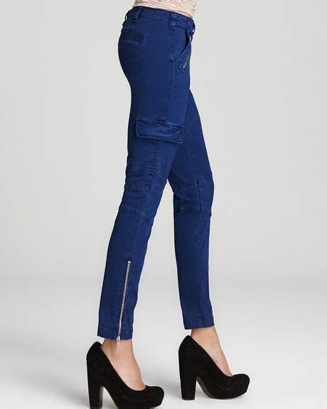 brand jeans maverick skinny zip cargo  vintage nightfall  blue vintage nightfall lyst