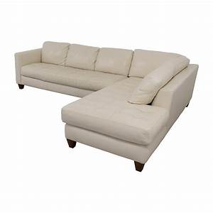 72 off macy39s macy39s milano white leather two piece for Macy s white sectional sofa