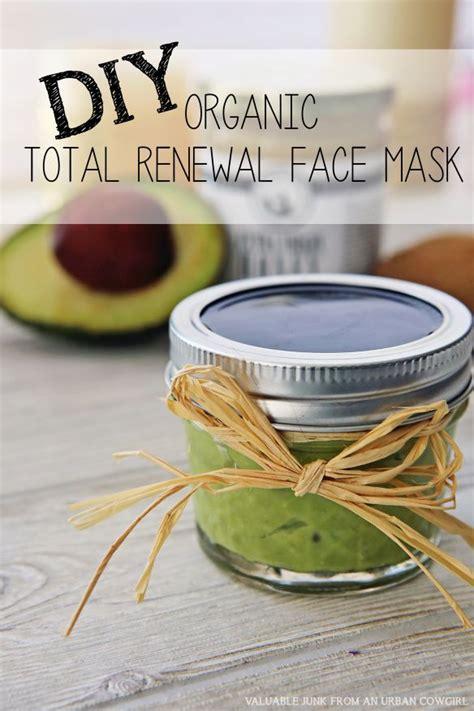 diy organic total renewal face mask fun gift   friend