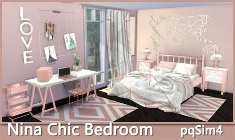 nina chic bedroom sims  custom content bebe sims