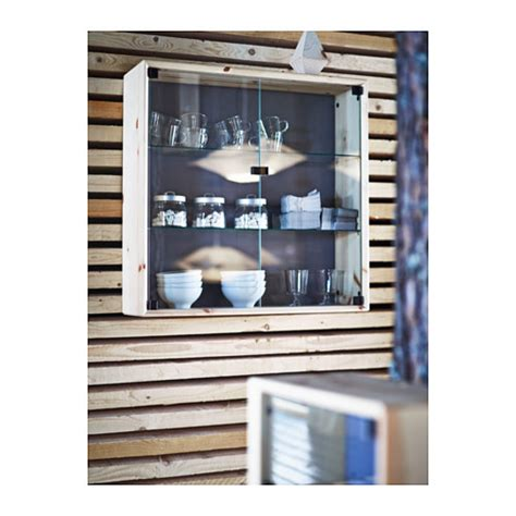 pine wall cabinet with glass doors nornäs glass door wall cabinet pine 70x70 cm ikea