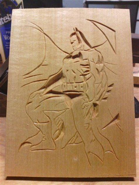 batman chip carving wood carving chip carving carving