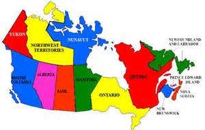 Map of Canada Provinces List