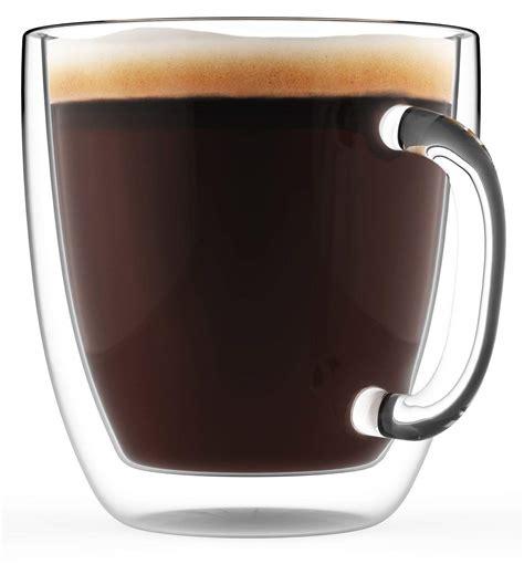 Eparé double wall glass mug set of 2 3. Large Coffee Mug, Double Wall Glass 16 oz $16.95 (REG $39.99) - Mojosavings.com