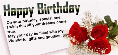 birthday wishes   special birthday