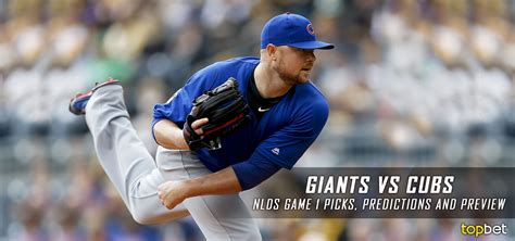giants  cubs  nlds game  predictions picks preview
