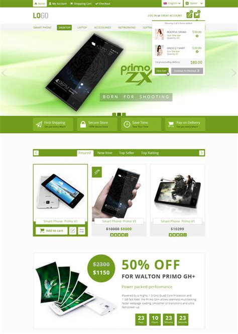 Free Ecommerce Template by 30 Free Ecommerce Psd Templates For Designers Psd Downloads