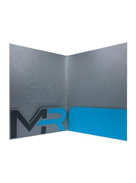 custom die cut pocket folders   systems design