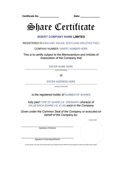 Company Certificate Template by 10 Certificate Templates Word Excel Pdf Templates