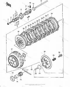 Kawasaki Motorcycle 1978 Oem Parts Diagram For Clutch