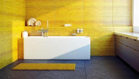 salle de bains jaunes  idees pour une decoration lumineuse