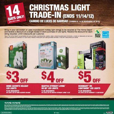 home depot christmas light trade in november 1 14 al com