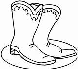Boots Coloring Cowboy Winter Boot Pages Hat Printable Shoes Colouring Clipart Cartoon Snow Clip Cliparts Fall Drawings Template Autumn Christmas sketch template