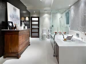 Hgtv Bathroom Design Ideas - black and white bathroom designs hgtv