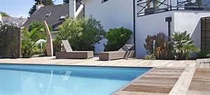 amenagement autour d39une piscine henri mignon With amenagement jardin autour piscine
