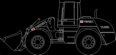 terex tl heavy duty loader dwg block  autocad