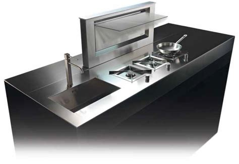 table de cuisine retractable wesco hotte aspirante escamotable th soto inox