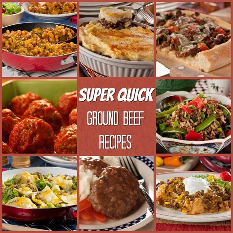 easy dinner with ground beef super quick ground beef recipes mrfood com